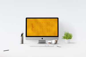 Golden Desktop Calendar