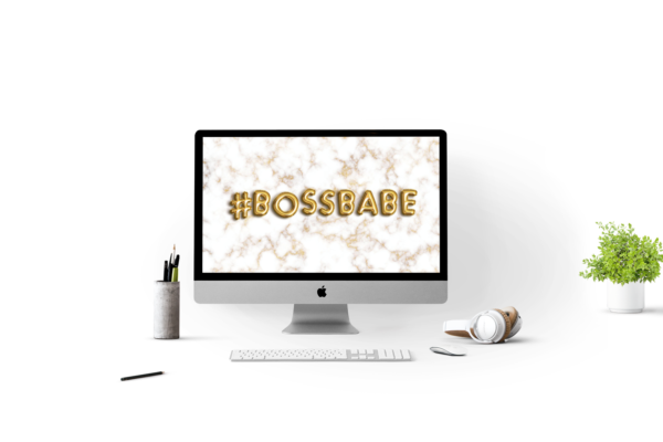 Marble bossbabe desktop wallpaper